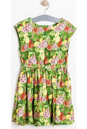 Soobe Kız Çocuk Elbise Yeşil