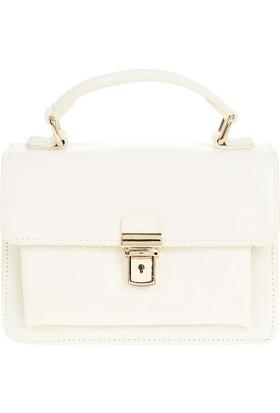 David Jones Kadın Flap Askılı Çanta Beyaz