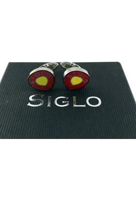 Siglo Accessory Sarı Kırmızı Model Kol Düğmesi