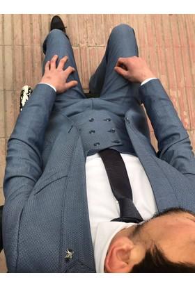 Oksit Petek Kombin Takım Elbise - Mavi