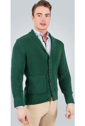 Tudors Pamuklu Erkek Hırka - Yeşil Braga
