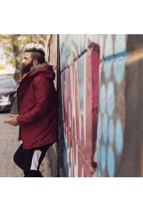 Oksit Jeanscollic Super Slim Fit Full Kürklü Kaban - Bordo