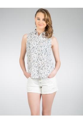 Colin's Çok Renkli Kadın Kısa Kollu Gömlek