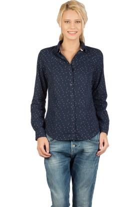 Colin's Lacivert Kadın Uzun Kollu Gömlek