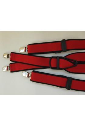 Kemer Sepeti Dört Klipsli Kırmızı Pantolon Askısı