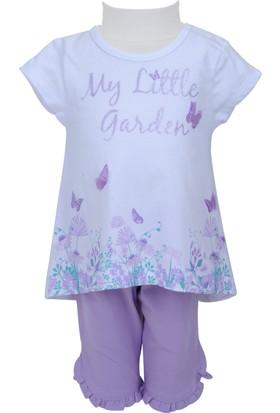 Zeyland Kız Çocuk Beyaz Tunik + Tayt Takım - 71M2LJG76