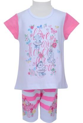 Zeyland Kız Çocuk Beyaz Tunik + Tayt Takım - 71Z2PMB76