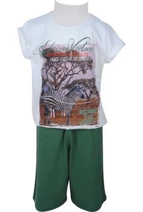 Zeyland Erkek Çocuk Ekru T-shirt + Şort Takım - 71Z3GFA76