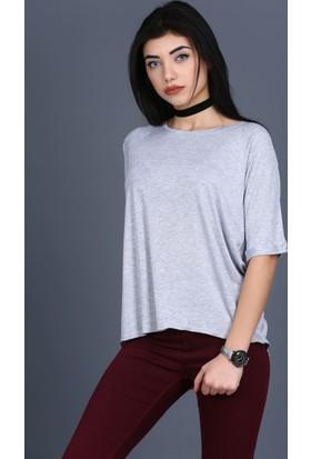 Majör Ön Kısa Arka Uzun Dirsek Kollu T-Shirt