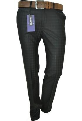 Arvedo Erkek Pantolon Ekose Siyah Slim Fit 83112