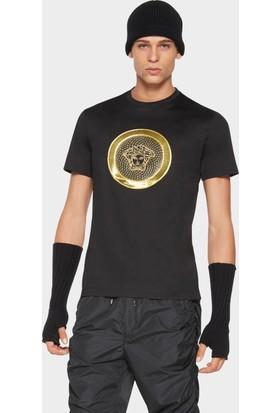 Guice Paris Versace Gold Medusa Cotton Jersey Model Erkek T-Shırt
