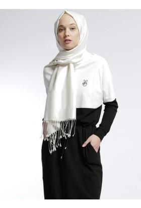 Natürel Kumaşlı Garnili Elbise - Siyah - Benin