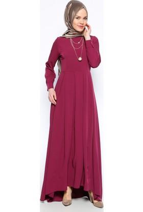 Pileli Elbise - Mürdüm - Bürün