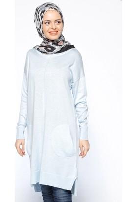 Salaş Triko Tunik - Mavi - Seyhan Fashion
