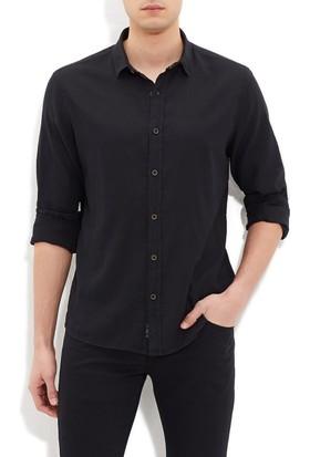 Mavi Erkek Cepsiz Siyah Gömlek