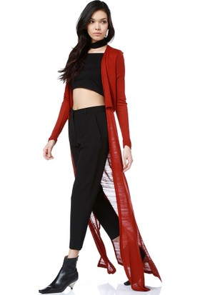 Bsl Fashion Kiremit Yelek Hırka 9130