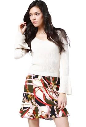 Bsl Fashion Bej Triko 9133