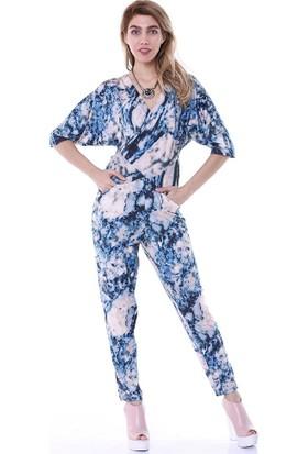 Bsl Fashion Desenli Tulum Elbise 9117