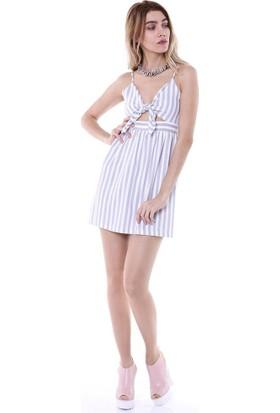 Bsl Fashion Gri Elbise 9174