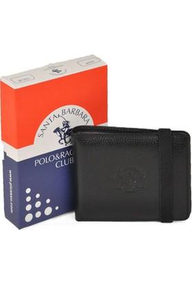 Polo & Racquet Club Lastikli Siyah Deri Kartlık Cüzdan