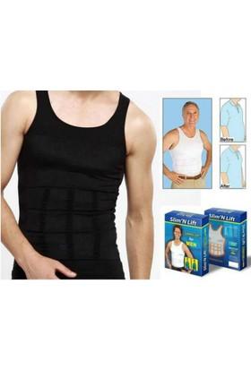 TveT Slim N Lift Erkekler İçin Atlet Tipi Göbek Korsesi - L - Siyah