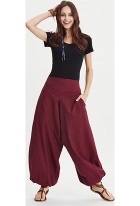 Los Banditos Kadın Bordo Yoga Pantolon P255