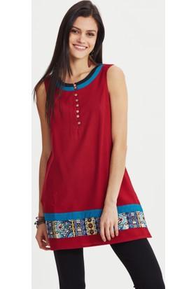 Los Banditos Kadın Kırmızı Kleopatra Bluz B41