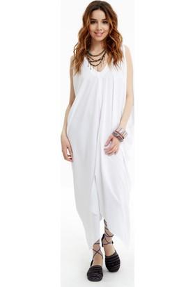 Los Banditos Kadın Beyaz Bodrum Elbise E09