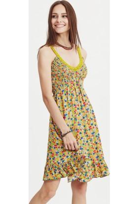 Los Banditos Kadın Hardal Pepule Elbise E17