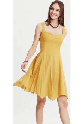 Los Banditos Kadın Sarı Siyam Elbise E37