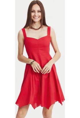 Los Banditos Kadın Kırmızı Siyam Elbise E37