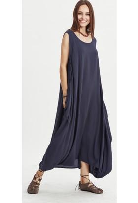 Los Banditos Kadın Antrasit Büyük Düğmeli Elbise E48