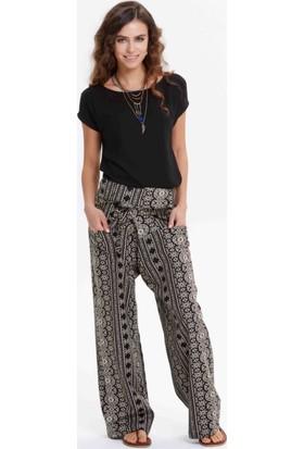 Los Banditos Kadın Beyaz - Siyah Balıkçı Pantolon P08