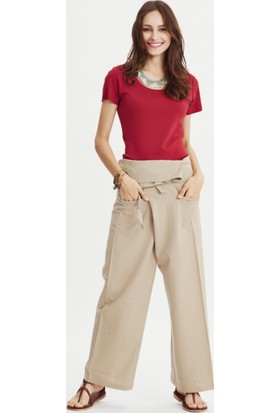 Los Banditos Kadın Krem Rengi Balıkçı Pantolon P08