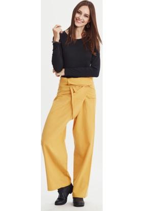 Los Banditos Kadın Sarı Balıkçı Pantolon P08