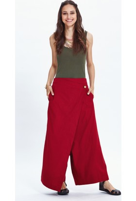 Los Banditos Kadın Kırmızı Borneo Pantolon P42