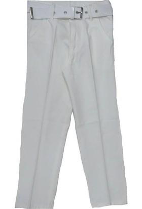 Terry Erkek Çocuk Kemerli Keten Pantolon