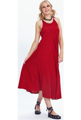 Los Banditos Kadın Kırmızı Sardunya Elbise E62