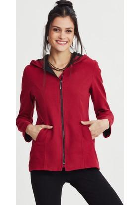 Los Banditos Kadın Kırmızı Perla Kapüşonlu Sweat Shirt Kc10