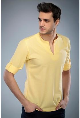 Philip Loren Sarı Yakasız Spor Gömlek (BSW04KT006)