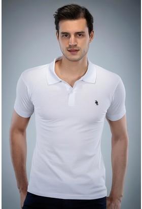 Philip Loren Beyaz Logolu Polo Yaka T-Shirt (WPO04W8039W001)