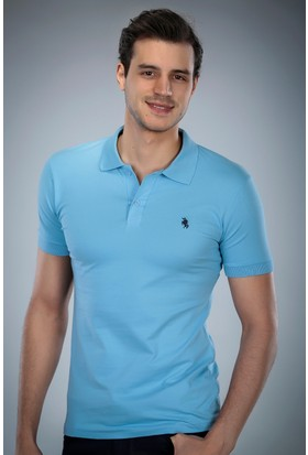 Philip Loren Mavi Logolu Polo Yaka T-Shirt (WPO04W8039W003)