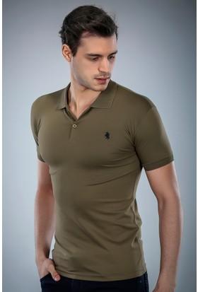 Philip Loren Haki Yeşil Logolu Polo Yaka T-Shirt (WPO04W8039W005)