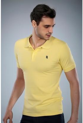 Philip Loren Sarı Logolu Polo Yaka T-Shirt (WPO04W8039W006)