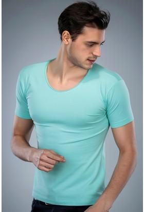 Philip Loren Mint Yeşili Havuz Yaka T-Shirt (WPO04W320W008)