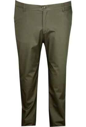 Fala Jeans Büyük Beden Keten Pantolon Haki