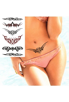 Leydika Black Tattoo - Siyah Geçici Metalik Dövme 503