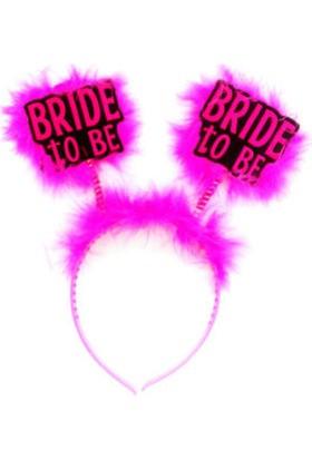 Toptancı Kapında Otrişli Gelin Tacı Bride To Be - Fuşya