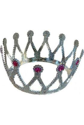 Toptancı Kapında Taşlı Prenses Tacı - Gümüş