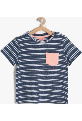 Koton Erkek Çocuk Cep Detaylı T-Shirt Beyaz